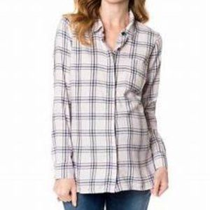 Splendid A Pea in the Pod Maternity Pink Plaid Top